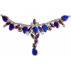 Crystal Motifs T-shape 17x8.5cm Purple/cognac Aurora Borealis/gunmetal